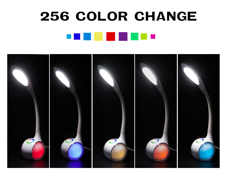 Touch Dimmer Table Lamp with 256C Living Color Light